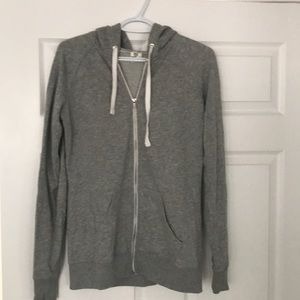 VS Pink hooded zip up sweatshirt